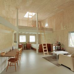 Interior Design Simple  Small Box House by Akasaka Shinichiro Atelier