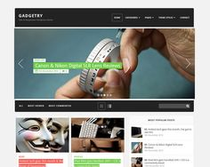 Gadgetry is a free responsive wordpress magazine theme from Themefuse. Gadgetry wordpress theme comes with neat and clean layout design that looks very modern and best suitable to create any magazine style website.    Unique features available in this free responsive wordpress magazine theme are beautiful huge slider at the homepage, list or grid view, custom widgets, social sharing icons, ad widget area, multiple footer widget area, default page templates, Shortcodes and many more.