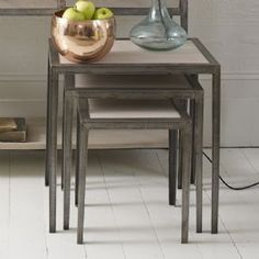 Marseille Wood & Metal Nesting Tables