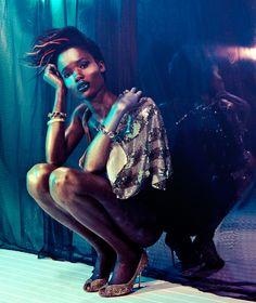 andrew gough, andrewgough, andrewgoughphoto, studio, light, fashion, editorial, Luxe, Tina, Blue, Yellow, glamorous, gold