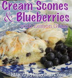 Perfect recipe…. Cream Scones and Blueberries