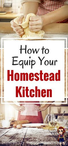 to Equip Your Homestead Kitchen - The Essentials You Need How to equip your homestead kitchen - the essentials for a homesteading kitchen.How to equip your homestead kitchen - the essentials for a homesteading kitchen. Homestead Farm, Homestead Living, Homestead Survival, Survival Skills, Survival Tips, Homestead Gardens, Homestead Layout, Survival Books, Survival Quotes