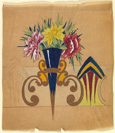 Anonymous, French, 20th century. Frieze with Ornamental Bracket Holding a Vase with Floral Arrangement, ca. 1910–1929. The Metropolitan Museum of Art, New York. The Elisha Whittelsey Collection, The Elisha Whittelsey Fund, 1964 (The Elisha Whittelsey Collection, The Elisha Whittelsey Fund, 1964) #spring