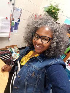 Grey Curly Hair, White Hair, Black Hair, Curly Hair Styles, Marley Crochet Braids, Soft Dreads, Hair Hacks, Hair Tips, Natural Hair Styles For Black Women
