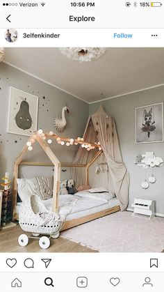 35 Amazingly Pretty Shabby Chic Bedroom Design and Decor Ideas - The Trending House Baby Bedroom, Baby Room Decor, Nursery Room, Boy Room, Girls Bedroom, Baby Room Design, Toddler Rooms, Kids Rooms, Little Girl Rooms