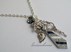 Long NECKLACE '50 Shades of Grey' Swarovski. New