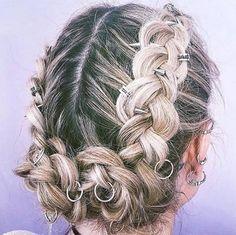 como usar hair rings: anéis de cabelos em penteados