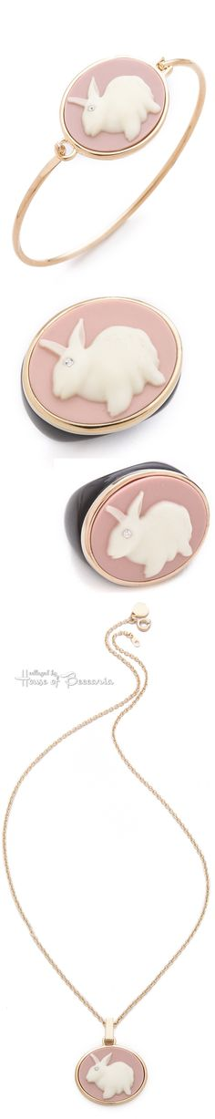 ~Marc by Marc Jacobs bunny cameo collection on resin with crystal eye accents lends humor and gives new life to a vintage-style | House of Beccaria