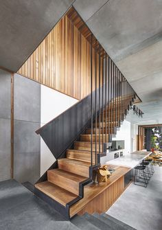 Living Screens Conceal a North Bondi Beach House and a Semi-Indoor Pool - Dwell #stairs #staircase