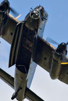 Avro Lancaster PA474 City of Lincoln with her bomb doors fully open.