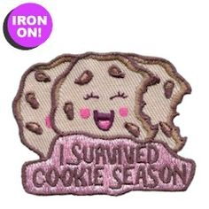 "2"" Iron On Embroidered Fun Patch. After a successful cookie season, you'll want to reward to your troop with this fun patch. Great low price of $.69!! See all of our Fun Patches on PatchFun.com"
