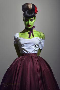 zombie frankenstein prom makeup idea