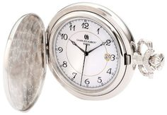 Charles-Hubert, Paris 3927 Classic Collection Chrome Finish Brass Quartz Pocket Watch >>> Check this awesome product by going to the link at the image.