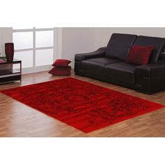 World Menagerie Pearlman Hand-Knotted Pink Outdoor Area Rug Rug Size: R Black And Red Living Room, Burgundy Living Room, Living Room Red, Living Room Decor, Burgundy Walls, Burgundy Decor, Red Walls, Room Color Schemes, Room Colors