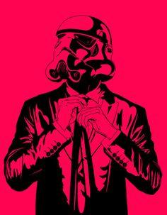 pink stormtrooper!