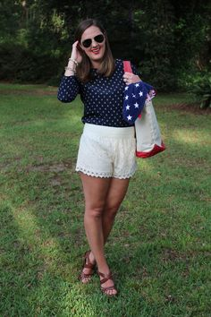 4th of July outfit via With Style and a Little Grace