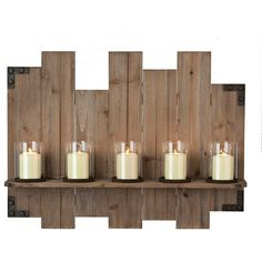 Wood Plank Wall Candle Holder (€60) ❤ liked on Polyvore featuring home, home decor, candles & candleholders, column candles, pillar candle-holder, wall candle holders, wall candleholders and bronze candle