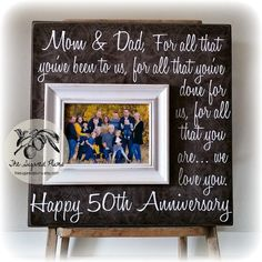 parents anniversary gift 50th anniversary gifts by