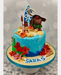 vaiana Cakes And More, Luau, Birthday Cake, Desserts, Food, Alice, Healthy, Moana Birthday, Birthday Cakes