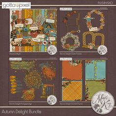 Autumn Delight Digital Scrapbook Bundle at Gotta Pixel. www.gottapixel.net/
