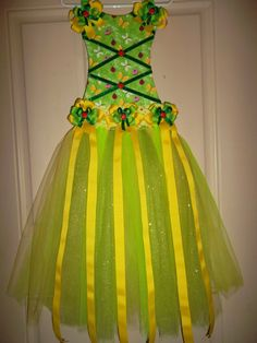 TuTu Bow holder yellow and Green Ladybugs by ScrappyBOWtique, $42.00 Great for Christmas Or Birthdays