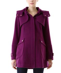 Look at this MOMO Maternity Amethyst Sawyer Wool-Blend Maternity Coat on #zulily today!