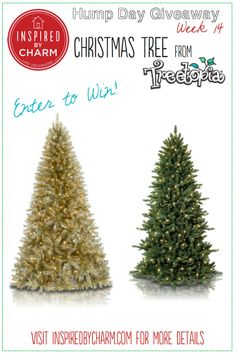 Want to upgrade you tree? Do it with a fabulous tree from @Treetopia Artificial Christmas Trees Artificial Christmas Trees !! I'm giving away your choice of the gold or green tree! Enter to win on my blog, Inspired by Charm. Enter here: http://www.inspiredbycharm.com/2013/12/a-colorful-christmas-tree-treetopia-hump-day-giveaway.html #IBCholiday #12days72ideas