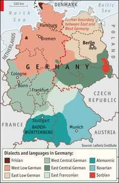 Map of East / West Germany | Knowledge | Germany, Map, East germany