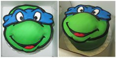 Leonardo TMNT Cake- need to do orange for Michelangelo this is for my little bro