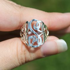 Cut Out Monogram Ring  I WANT!!