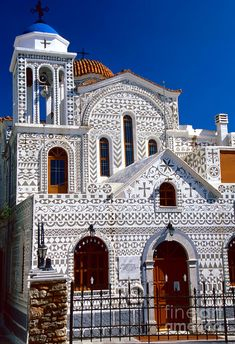 Church Of Geometric Pattern Pyrgi village in Chios Island,Greece