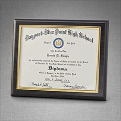 Appreciation plaque senior year graduation pinterest diploma frame show off your hard earned diploma diplomaframe classof2014 graduation jostens yadclub Choice Image
