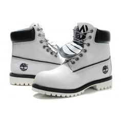 Timberland Mens 6 Inch Boots White Black - All Boots Ship Free. Timberland Outfits, Timberland Stiefel Outfit, Shoes Boots Timberland, Timberlands Shoes, Shoe Boots, Glitter Timberlands, Sneakers Mode, Sneakers Fashion, Fashion Shoes