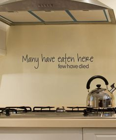 'Many Have Eaten Here' Decal