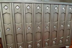 SALE - Was 555 Silver Pewter Metallic Bookcase Vintage Drexel Morroccan. $425.00, via Etsy.