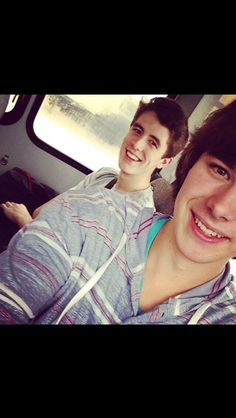 Mitch and Rusher. Omg Mitch takes the cutest selfues...I can't even