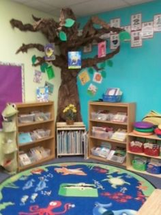 Kids reading area kids reading corner reading area ideas for kids classroom reading corner decorating ideas . Reading Corner Classroom, Library Corner, Reading Corner Kids, Reading Tree, Class Library, Classroom Layout, Classroom Organisation, New Classroom, Classroom Design