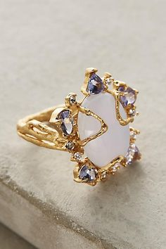 Morning Glory Ring - by Indulgems anthropologie.com