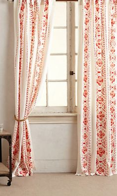 #orange curtains to brighten up a room http://rstyle.me/n/jsub5r9te