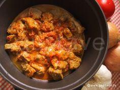 Colombo de porc antillais - tomates, gingembre, ail, oignons, épaule de porc (800 g )