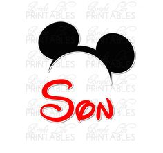 Disney+Iron+On+Transfer+Son+Mickey+Ears+by+BrightLifePrintables,+$4.00