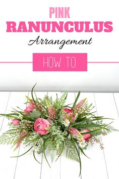 Make a DIY Ranunculus artificial flower arrangement for your entryway or your living room. Decorating with flowers is fun! Our wreath of the month club has over 100 video tutorials, including this one. Click to learn more. #wreathmaking #diy #southerncharmwreaths Artificial Flower Arrangements, Artificial Flowers, Decorating Your Home, Diy Home Decor, Ranunculus, Summer Wreath, How To Make Wreaths, Video Tutorials, Farmhouse Decor