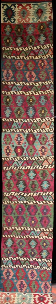 d65492d8becc A beautiful and finely woven antique Anatolian Kilim from Adana. Natural  dyes and some great