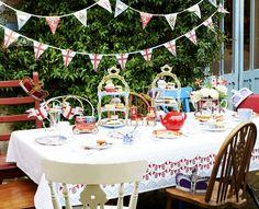 "British Garden Tea Party - just imagine it: under the ""magic tree"""