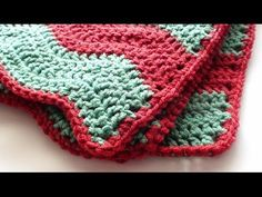 Single Crochet Edging for Soft Crochet Chevron Blanket - YouTube