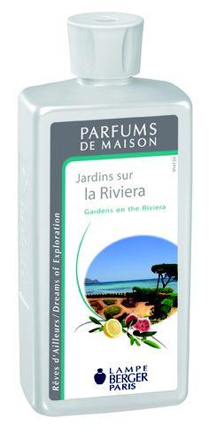 Parfum de Maison Jardins sur la Riviera.Une eau fraîche, verte et boisée pour un voyage olfactif inoubliable sur les rivages de la méditerranée.