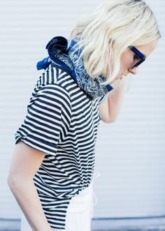 stripes + bandana.