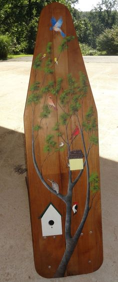 Unique Antique Primitive Ironing Board Wood Painted Signed J. ANDRZEJEWSKI in Antiques, Primitives   eBay