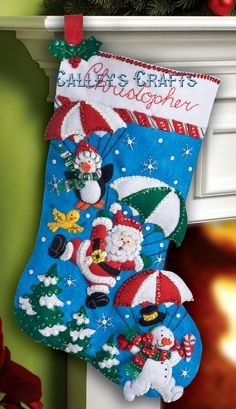 It's true that MerryStockings carries the full line of Bucilla felt Christmas stocking kits. We also have exclusive retired & discontinued Bucilla kits that you'll find no where else. Felt Stocking Kit, Christmas Stocking Kits, Felt Christmas Stockings, Christmas Night, Christmas Items, Christmas Holidays, Vintage Christmas, Christmas Crafts, Christmas Decorations