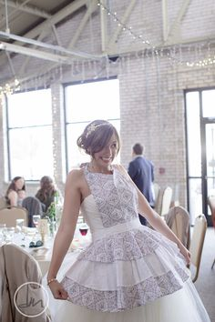 inspiration only/// in your wedding colors, what a great way to keep your wedding dress/reception dress clean!